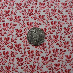 Patchwork-Quilting-Fabric-Red-White-Vines-Tonal-Cotton-Quilt-Fat-Quarter-FQ-161266866412