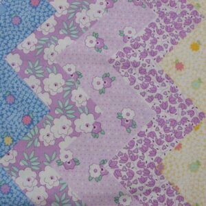 Patchwork-Quilting-Fabric-Retro-30s-Chevrons-Florals-Material-Cotton-FQ-New-111445569503