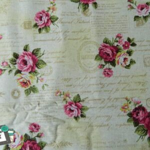 Patchwork-Quilting-Fabric-Vintage-Cream-Roses-Linen-Look-Material-Cotton-FQ-111913632692