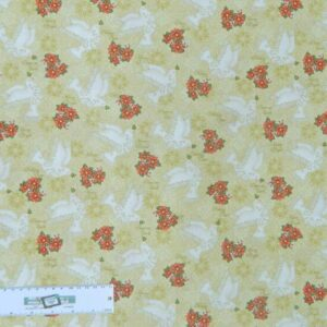 Patchwork-Quilting-Fabric-XMAS-PEACE-DOVES-FLOWERS-Sewing-Cotton-FQ-50X55cm-NEW-112108308666