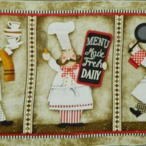Patchwork-Quilting-Sewing-Cotton-Fabric-Panel-COOKING-CHEFS-LARGE-60x110cm-NEW-111958616210