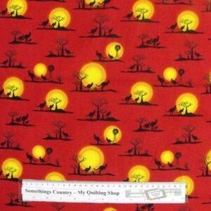 Patchwork-Quilting-Sewing-Fabric-Australian-Aboriginal-Kangaroo-Cotton-FQ50x55cm-112288457469