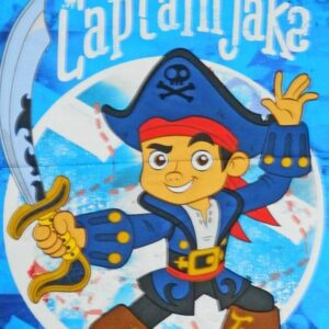Patchwork-Quilting-Sewing-Fabric-DISNEYS-CAPTAIN-JAKE-Quilt-Panel-90x110cm-New-161842872323
