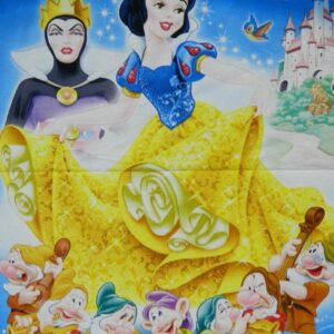 Patchwork-Quilting-Sewing-Fabric-DISNEYS-SNOW-WHITE-Quilt-Panel-90x110cm-New-161842794771