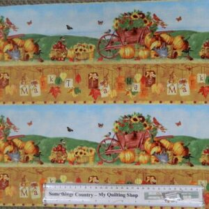 Patchwork-Quilting-Sewing-Fabric-FARMERS-MARKET-BORDER-Cotton-Panel-40x110cm-New-161890693052