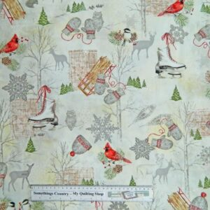 WINTER-CELEBRATION-Christmas-Patchwork-Quilting-Fabric-Material-Cotton-FQ50X55cm-111787026063