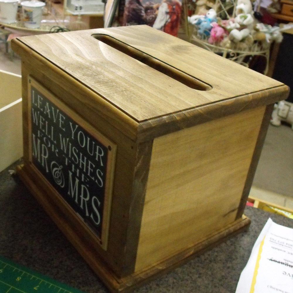 Wooden Wishing Well Wedding Card Box Ort Sayings Handmade Engagement New